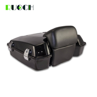 Motorcycle Razor Tour Pak Pack Trunk W/ Latch Backrest for Harley Touring Road King Road Street Glide Electra 97 13