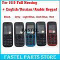 For Nokia 101 1010 New Full Mobile Phone Housing Cover Case + English / Russian / Arabic Keypad  Free shipping