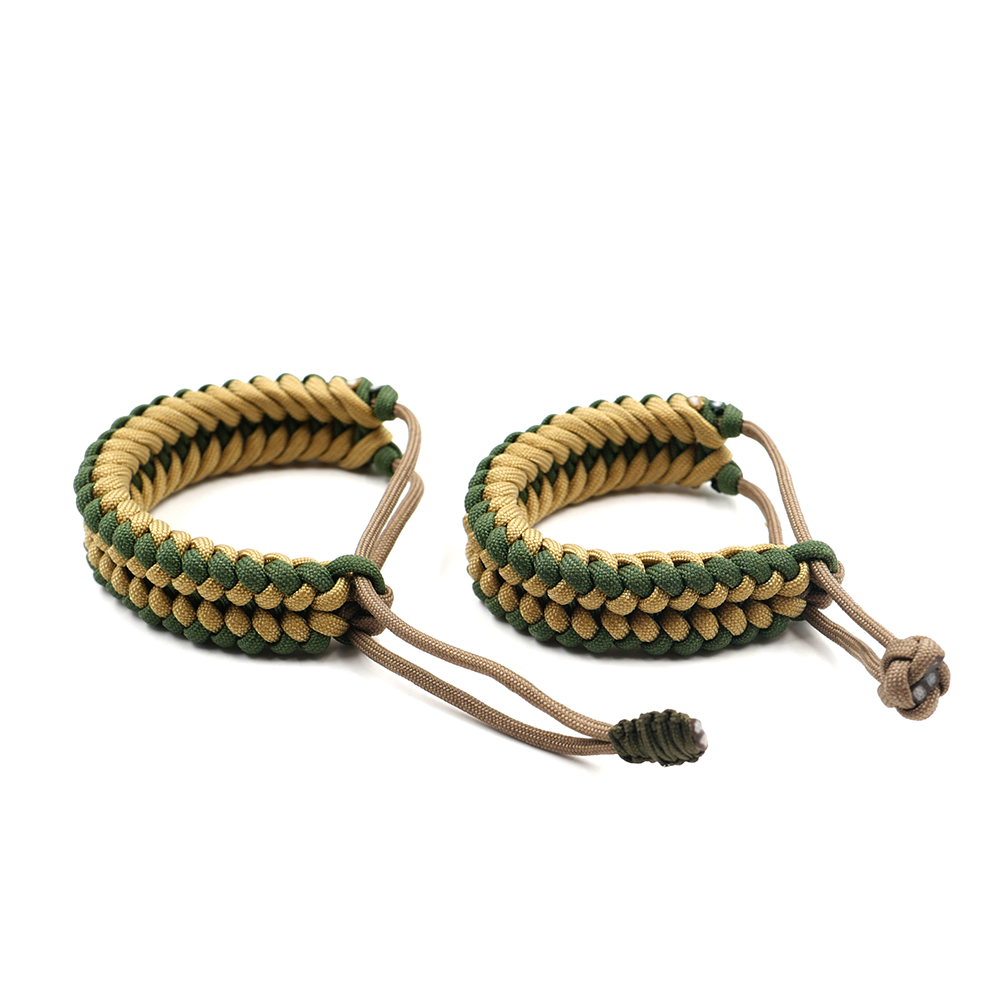 Adjustable Survival Emergency 550 Paracord Bracelet Parachute Cord Bracelet For Camping Hiking Outdoor