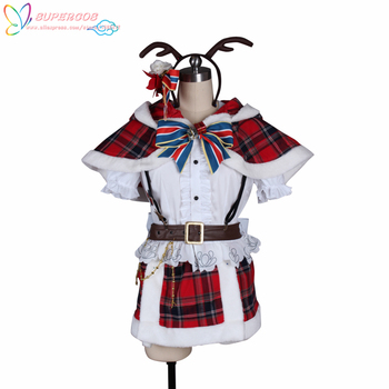 LoveLive!Sunshine!! Aqours Watanabe You Christmas Skirt Suit Cosplay Costume ,Perfect Custom For you!