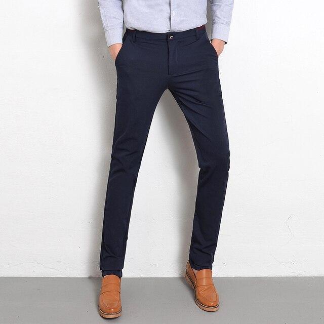 1e84797cae93 Korean Design Casual Slim Fit Men Pants Plus Size 28-38 Trousers Luxury  Men's Clothes