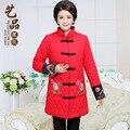 2016 invierno de las mujeres chinas jacket coat parka larga más el tamaño elegante chaqueta de piel mujer manteau abrigos mujer doudoune femme