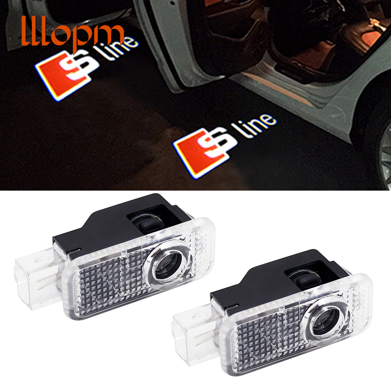 2pcs/lot No Drilling Car LED Ghost Laser Logo Projector Door Welcome Light For Audi Q7 Q5 Q3 C6 B5 B6 A8 A7 A5 A6 A4 A3 A1 R8 TT 2pcs led logo door courtesy projector shadow light for audi a3 a4 b5 b6 b7 b8 a6 c5 c6 q5 a5 tt q7 a4l 80 a1 a7 r8 a6l q3 a8 a8l