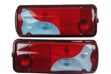 1Pair 24V Truck Rear Taillight Tail Lights for MEN Trailer Without Buzzer Bulb