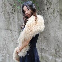 XZWDSI CX-S-178E для женщин настоящий монгольский мех ягненка Боа пушистый толстый натуральный мех шарф для женщин