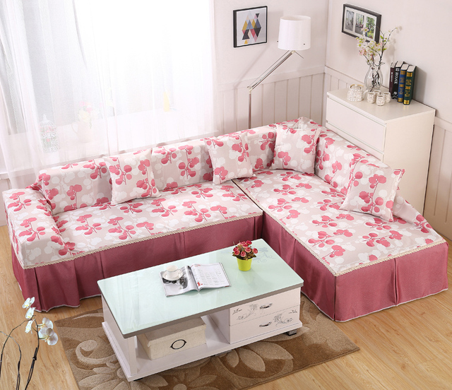 Modern Sofa Covers Strip pink Cloak Bedspreads for Sofa Couch ...
