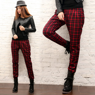 703 estilo británico clásico escocés pantalones estilo