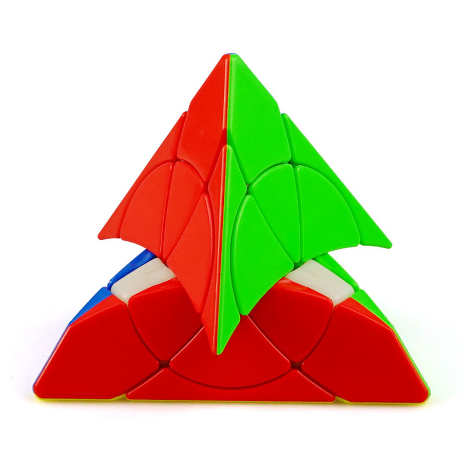 YJ 3X3 Cube 3x3 Petal Cube 3 Layer Stickerless Pyramid Speed Magic Cube Profissional Puzzle Toys For Children Kids Gift