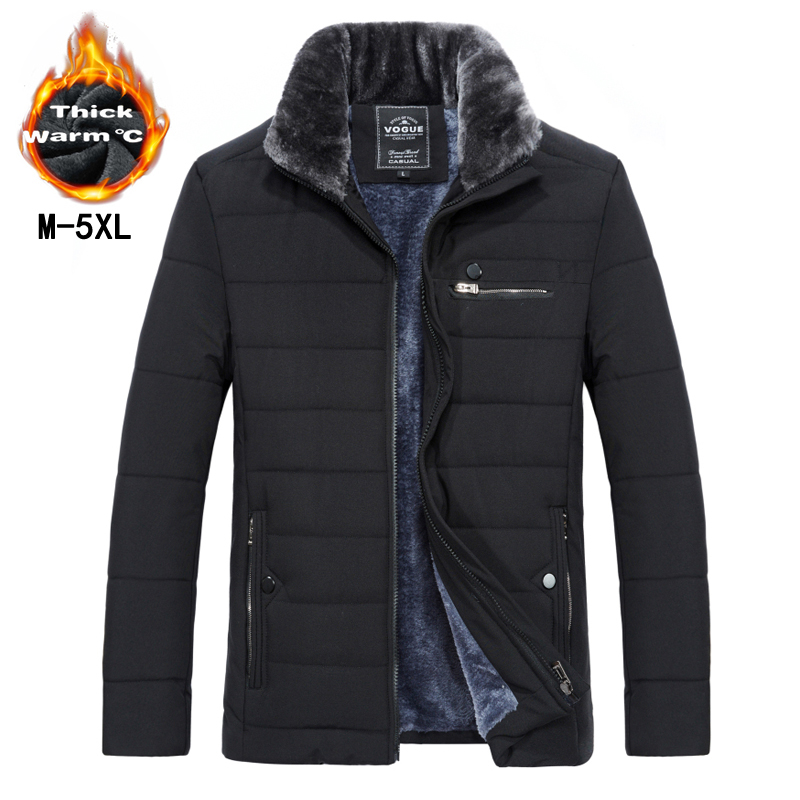2018 New style long Coat Men brand clothing fashion Long Jackets winter Coats brand-clothing mens Overcoat Fur collar Coat ...