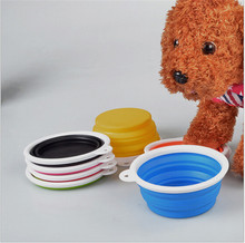 D11  pet bowls silicone Bowl pet folding portable dog bowls dog drinking water feed food bowl