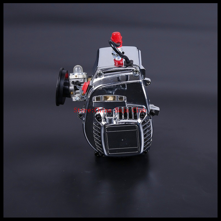 Baja 4 bolt 30.5cc Chrome Engine set with Walbro 668 carburetor and NGK sparkplug for 1/5 scale HPI KM RV baja 5B 5T 5SC - 81010 aluminum 4 hole 29cc engine walbro 668 with ngk spark plug for 1 5 rovan baja 5b 5t