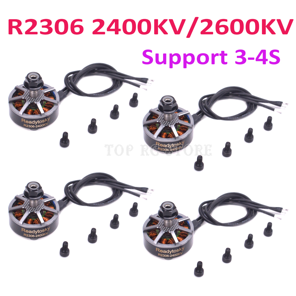 R2306 2306 2400KV / 2600KV FPV Brushless Electrical Motor 3-4S for F40 PRO II FPV Freestyle Frame props Racing QuadcopterR2306 2306 2400KV / 2600KV FPV Brushless Electrical Motor 3-4S for F40 PRO II FPV Freestyle Frame props Racing Quadcopter