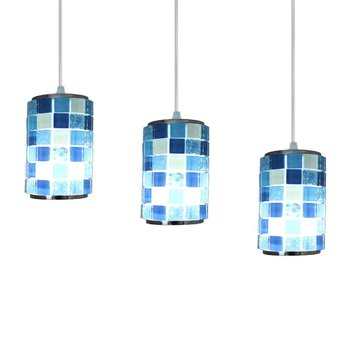 Mosaic Dining Room Pendant Lamp Mediterranean Bar Counter Shell Pendant Lamp Restaurant Romantic Pendant Lighting Lamp