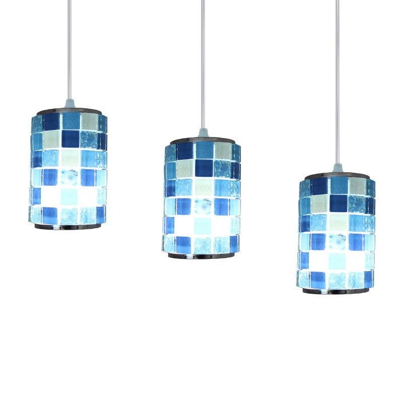 Mosaic Dining Room Pendant Lamp Mediterranean Bar Counter Shell Pendant Lamp Restaurant Romantic Pendant Lighting Lamp