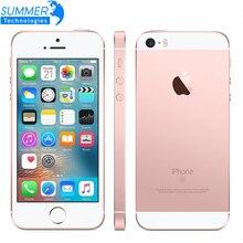 Apple iPhone SE для разблокированного мобильного телефона, A9 двухъядерный процессор, 2 Гб Оперативная память 16/64GB Встроенная память 4,0 ''12MP функция отпечатков пальцев, 4G, LTE смартфон