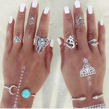 Sada krásných vintage prstenů se slonem, 8 ks/set