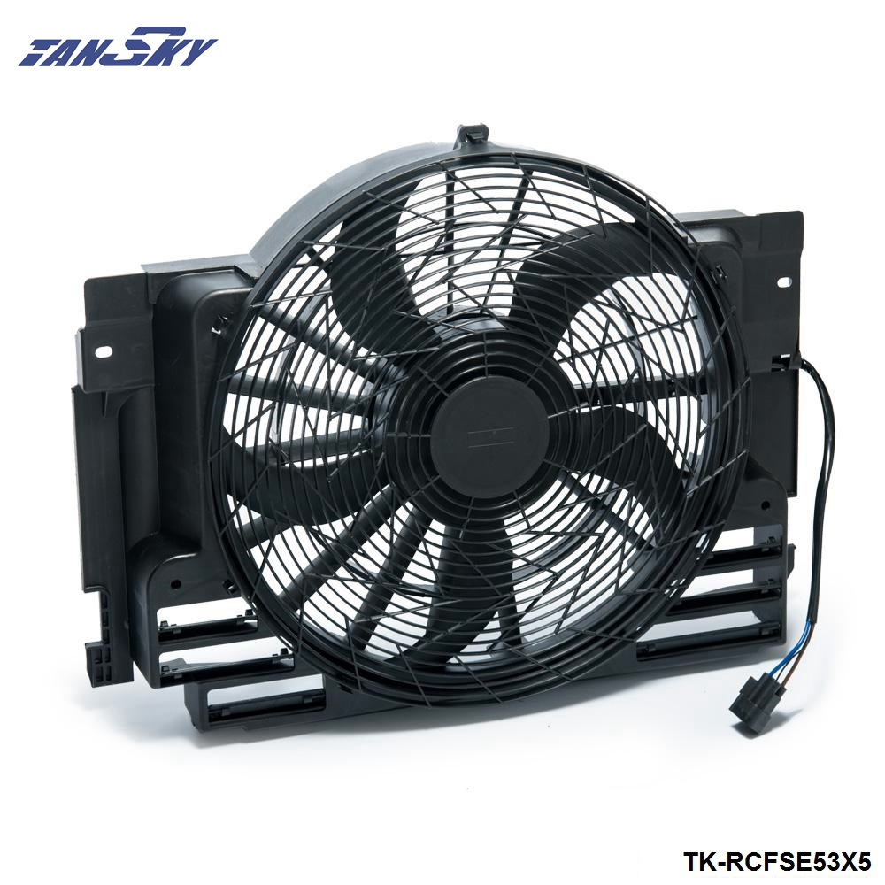 AC Radiator Condenser Cooling Pusher Fan 5 Blade For BMW X5 00-06 64546921381 TK-RCFSE53X5 new radiator cooling fan clutch for bmw 535i 735i 735il m3 m5 z3 11527831619