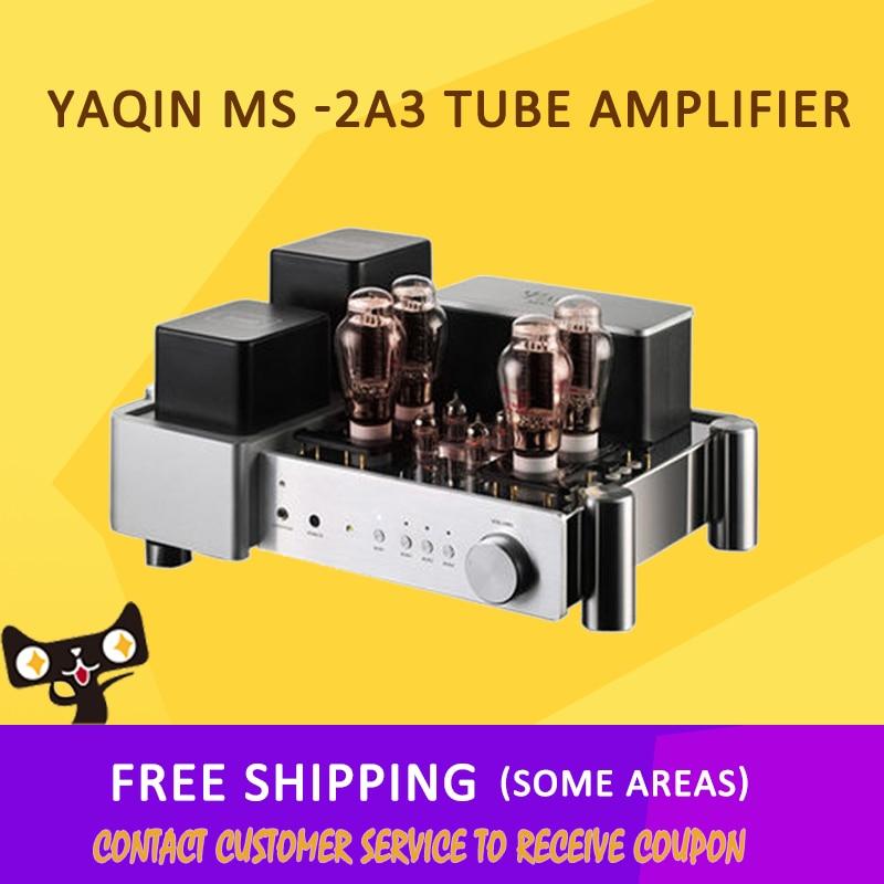 ASD YAQIN MS -2A3 2x10 W 110 V / 220 V Power Integrated Earphone Home Tube Amplifier free shipping yaqin ms 6v6 class a tube integrated headphone amplifier