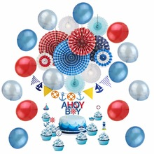 Birthday Party Decoration for Kids Boy Supplier Navy Theme Baby Shower 10pieces/set