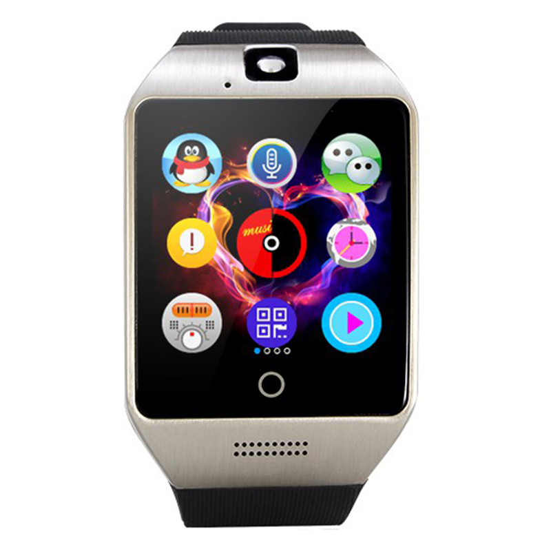 Pewant Bluetooth Smart Watch Q18 Touch Screen Big Battery Support TF Sim Card Camera for Android Phone Passometer SmartWatch