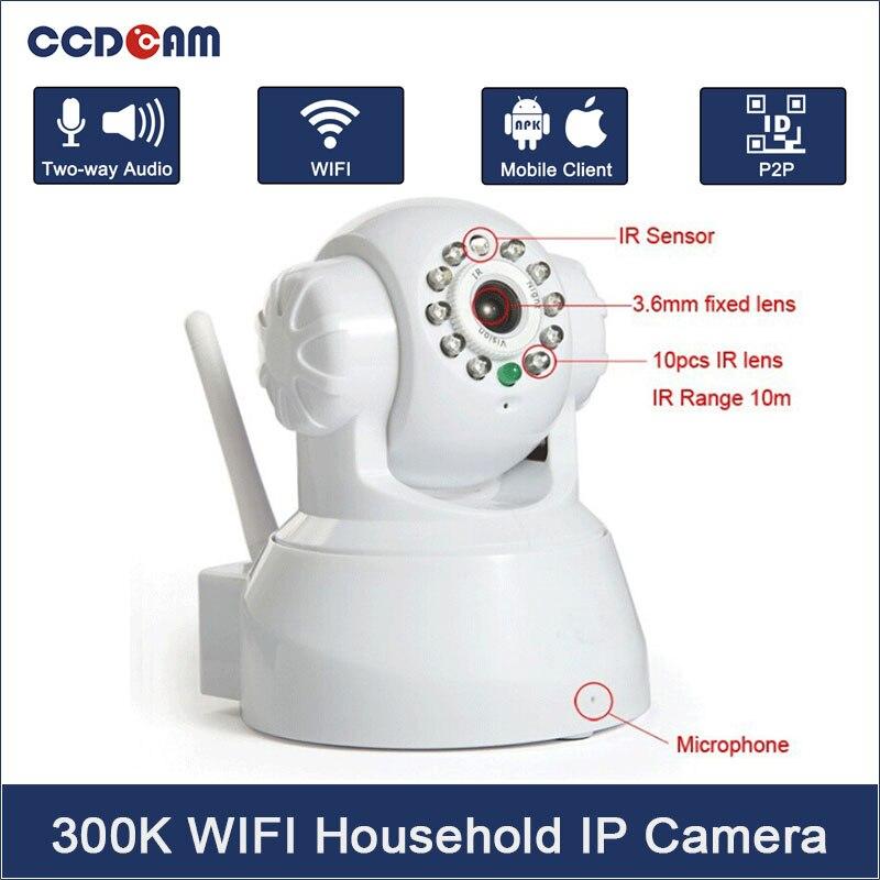 CCDCAM Wifi IP Camera Wireless CCTV P2P Camera Baby Monitor Security P/T Micro TF Card Camera Free IOS & Android APP