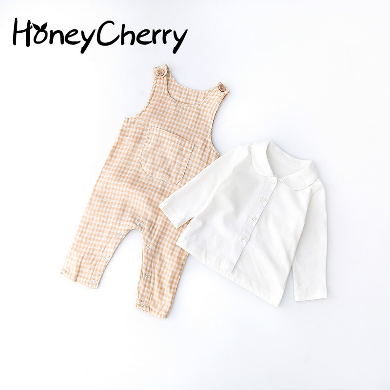 Baby Set romper Baby Kazakhstan Boy And Collar T Climbing Clothes South Korean Spring New Product Newborn Baby Girl Clothes 2pcs set newborn floral baby girl clothes 2017 summer sleeveless cotton ruffles romper baby bodysuit headband outfits sunsuit