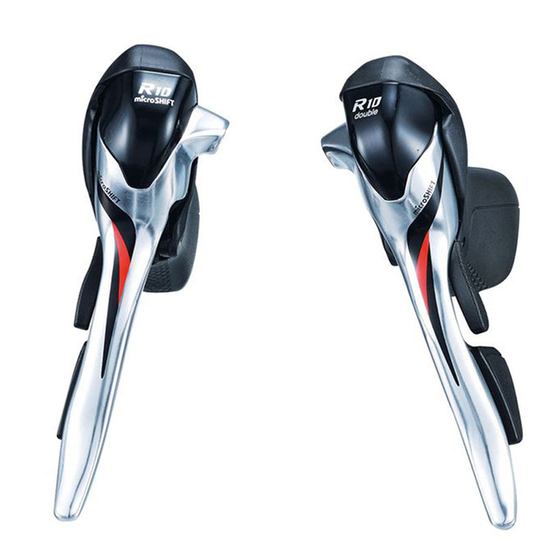 Road Bike Bicycle 2*10 Speed Shifter Lever microSHIFT SB-R402K Shifting Compatible for Shiman0 10 Speed Road Shifter microshift road bike shifters 2 10 compatible for shimano 105 5700 tiagra 4600 10 speed double sti lever set