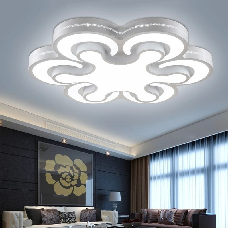 Free shipping surface mounted modern led ceiling lights for Living room ceiling light fixture
