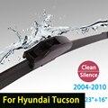 """Limpiaparabrisas cuchillas para Hyundai Tucson (2004-2010) 23 """"+ 16"""" estándar fit J gancho limpiaparabrisas armas sólo HY-002"""