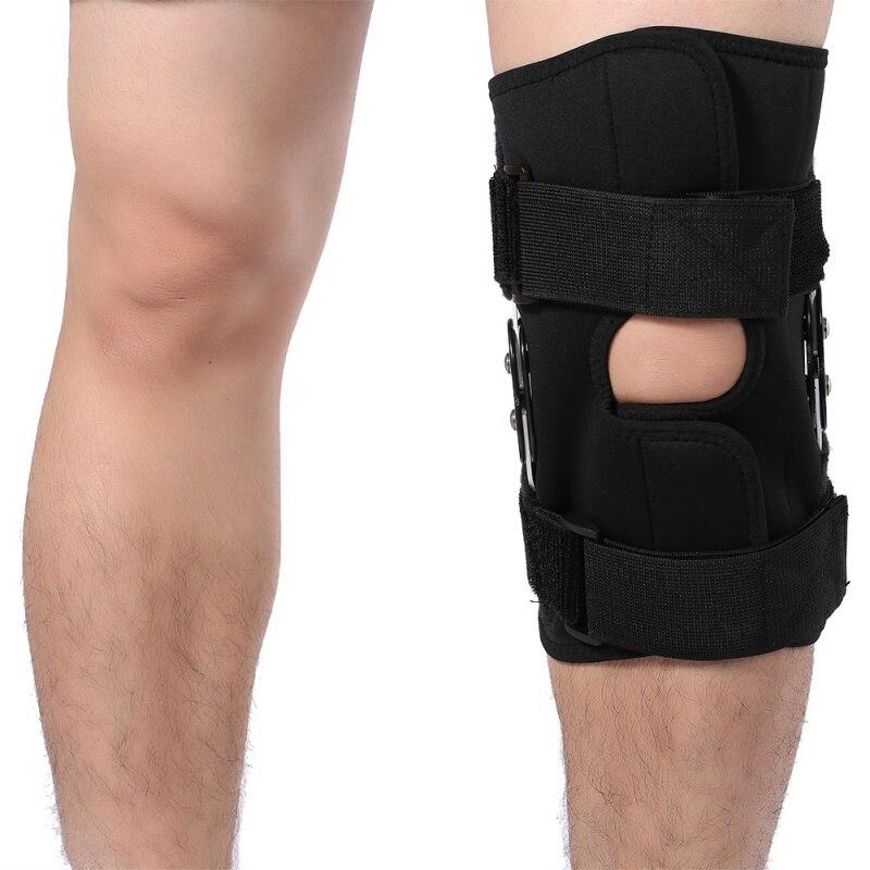 Adjustable Knee Support Pad Patella Knee Support Brace Protector Arthritis Knee Joint Leg Hinged Kneepad Compression Sleeve Hole