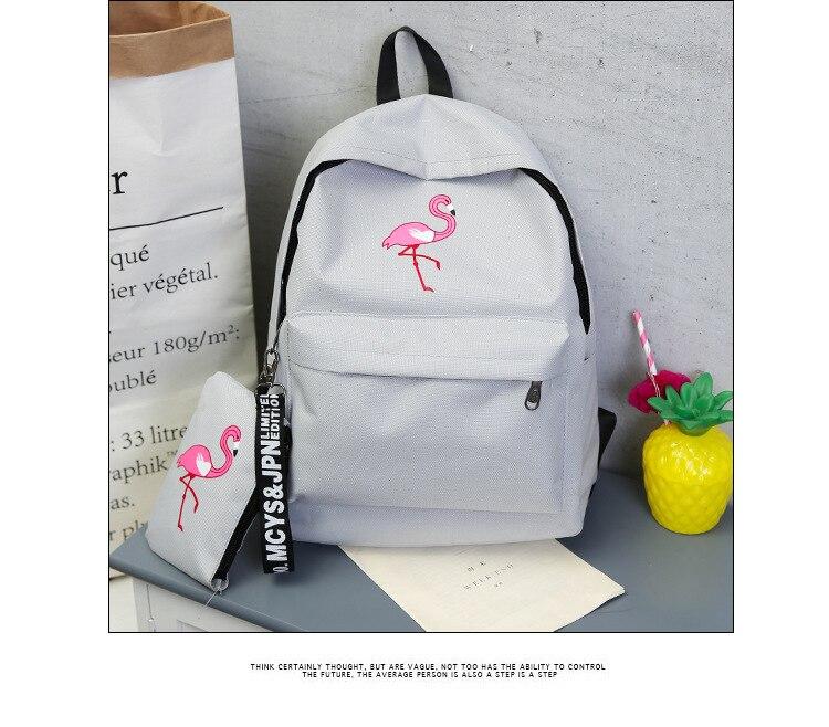 HTB1.DjNdi6guuRjy1Xdq6yAwpXa0 Backpacks Brand Women Simple Flamingo Printing Backpack For Teenage Girls Laptop School Bags Mochila 2019