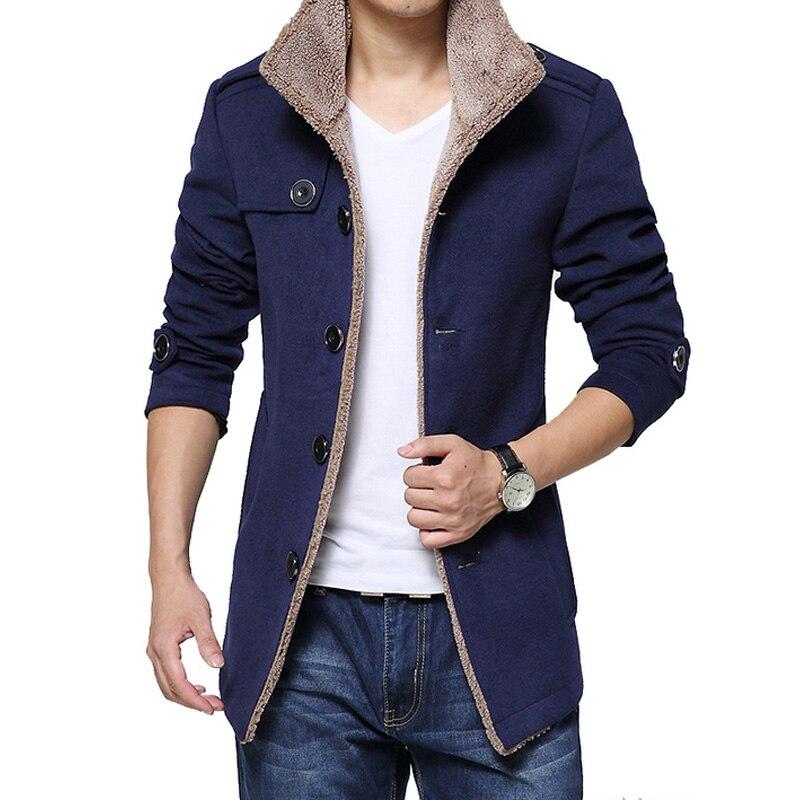 Long Pea Coat Men Promotion-Shop for Promotional Long Pea Coat Men ...