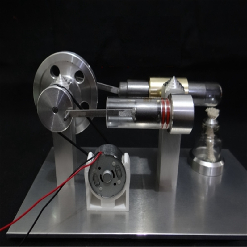 New Upgrade Stainless steel Mini Hot Air Stirling Engine Motor Model Educational Toy Science Experiment Kit Set For Children цена