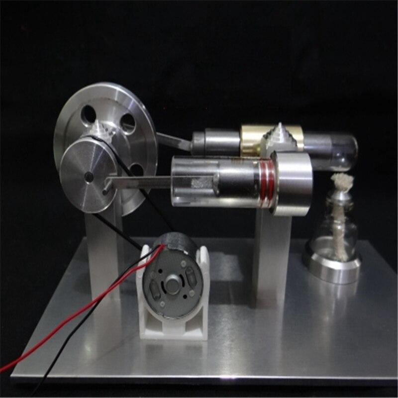 Nouvelle mise à niveau en acier inoxydable Mini moteur à Air chaud Stirling moteur modèle jouet éducatif Science Kit d'expérience ensemble pour les enfants