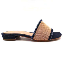 цены women slippers denim fringe chaim fashion low heel slipper luxury shoes women designer zapatos de mujer for women slippers shoes