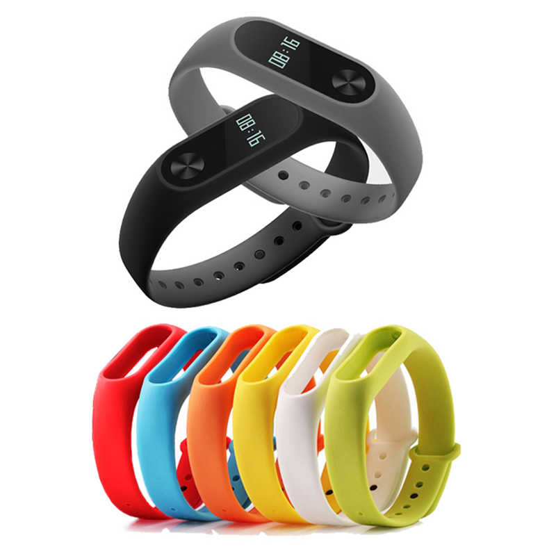 New Hot Selling Colorful Silicone For Xiaomi Mi Band 2 Miband Band2 Wristband Bracelet Strap Accessories Xaomi Xiomi Miband2 Mi2