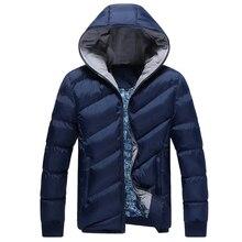 Европейской американской зимняя теплая продажа куртка моды мужская хлопок плюс мужчины
