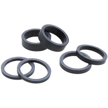 "6pcs/set 1 1/8"" UD Matte High Strength Full Carbon Fibre Bike Fork Headset Spacer 3mm 5mm 10mm for Road / Mountain Bicycle"