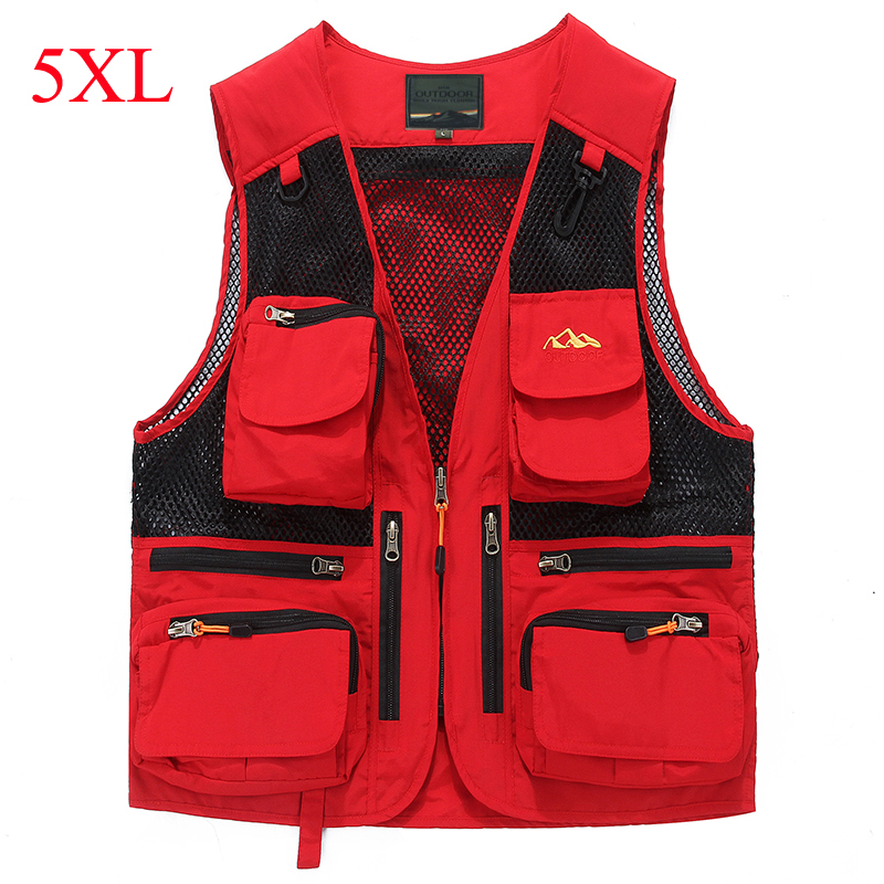 Brand outdoor military vest men sports waistcoats multi-pockets Photography fishing hunting hiking vest colete masculino IN8519 summer outdoors tactical mesh multi pockets vest men breathable shooting director photographer hunting hiking vest big size 6xl