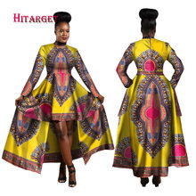 Hitarget 2017 African Dresses for Women Dashiki Cotton Wax Print Batik Sexy Long Dress for Femal Traditional clothing WY1268(China)