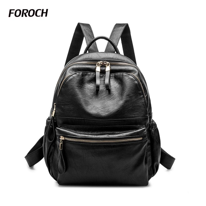 Fashion Women Backpacks Women's Genuine Leather Backpack Female School Shoulder Bags Teenage Girl College Student Casual Bag 191 high quality fashion rock band backpack for teenage women men casual daypack college student preppy school backpack travel bags