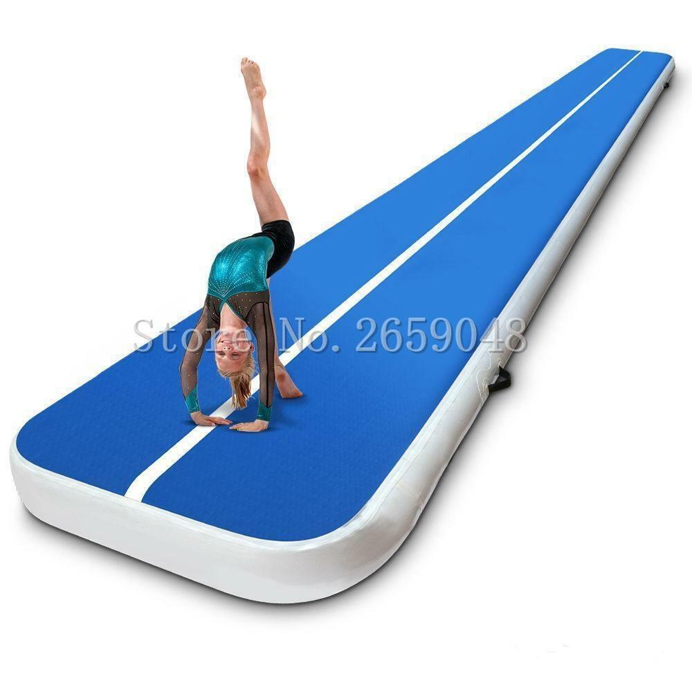 Livraison gratuite 6 m Air Track 8 pouces d'épaisseur Air Tumbling piste Airtrack gymnastique Tumbling Mat Trampoline gonflable pour l'entraînement