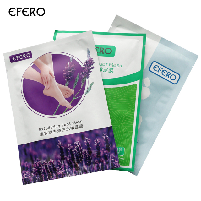 efero 3Pair Baby Foot Peeling Dead Skin Care Exfoliating Feet Pedicure Socks Foot Mask Skin Smooth Esfoliante Feet Mask