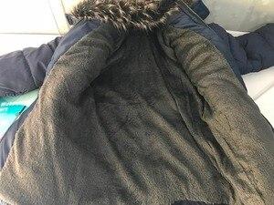 Image 5 - Ciepłe pogrubienie zimowe futro kołnierz dziecko płaszcz dziecięca odzież wierzchnia wiatroszczelne chłopięce dziewczęce kurtki dla 3 8 lat