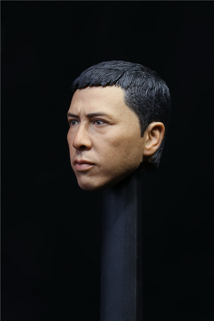 Collection 1/6 scale Toy Head Sculpt Donnie Yen Yip Man 3 Fit 12 Hottoy figure toys in stock image