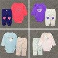 Niños niñas ropa otoño ropa de carter monos del bebé Recién Nacido pantalones cuerpo + 2 unidades para el bebé, chica, boy 0-24 M