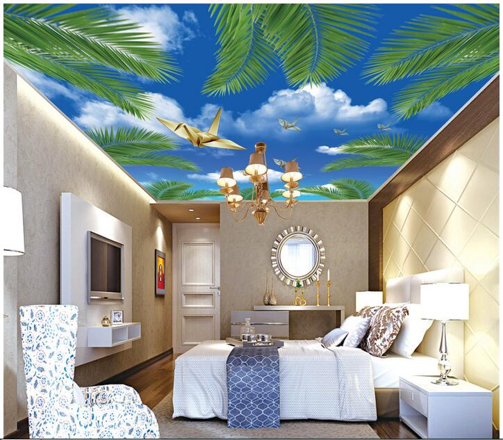 3d ceiling murals wallpaper custom photo non-woven The blue sky the coconut painting 3d wall mural wallpaper for living room xrotor micro blheli 30a 2 4s esc electronic speed controller for hobbywing original rc helicopter accessories