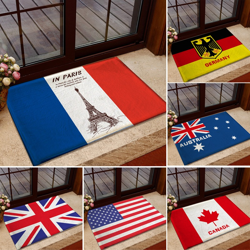 Bathroom Accessory Set Acrylic Carpet American Flag Rug British Union Jack  Doormat Bedroom Living Room Carpet