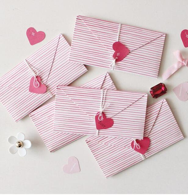 10 Pcs Lot New Arrival Mini Writing Letter Envelope Love Valentine