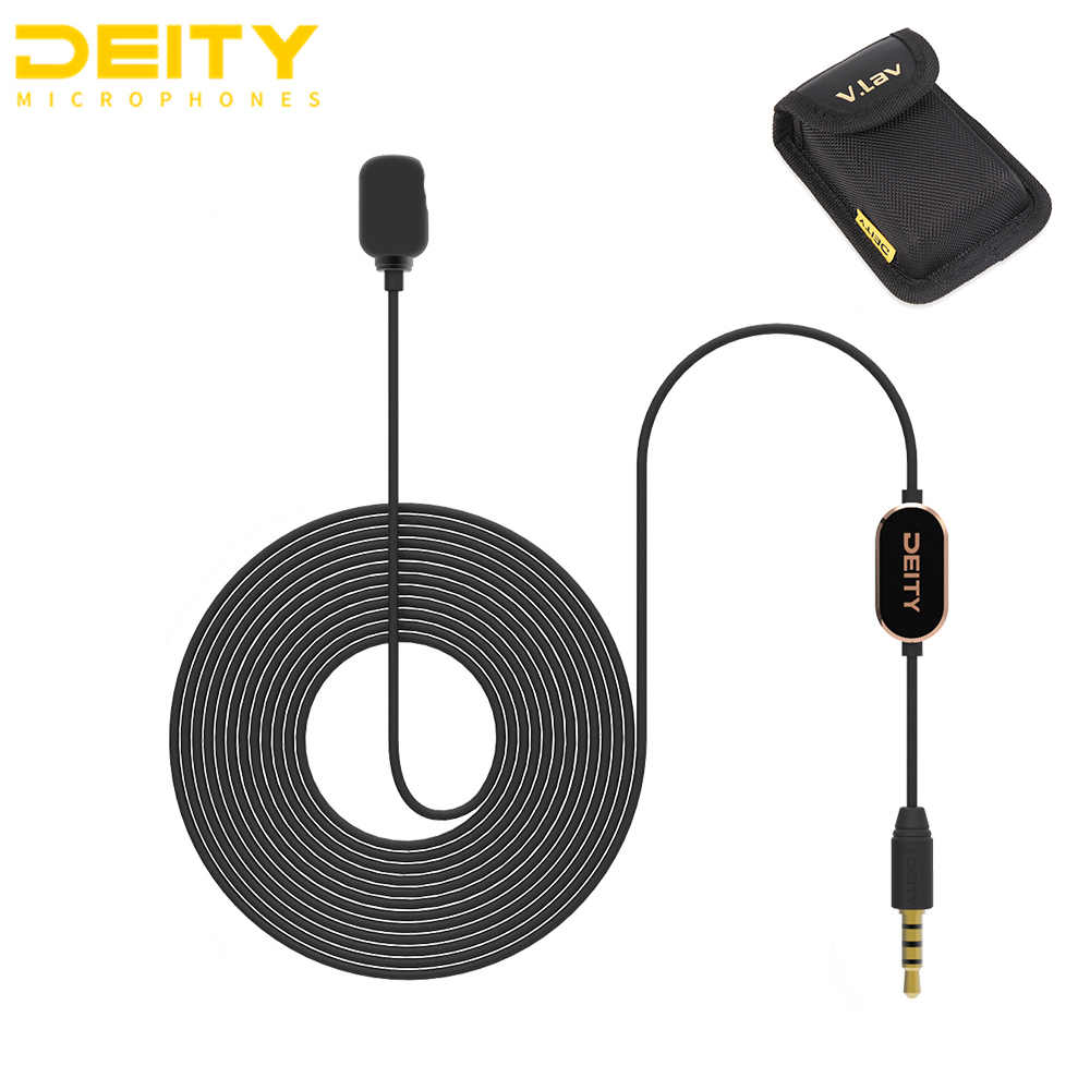 Deity V Lav Microphone Flat Frequency Response Omnidirectional Condenser Microphone High Signal to Noise Ratio PK